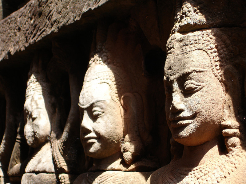 stone carvings, Angkor Thom