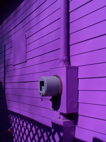 Yes, it was really painted purple! These colors are accurate. Store in Spring, Texas