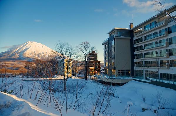 Shiki Exterior with Mt. Yotei