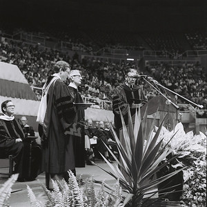 8385 Commencement 1980 honorary degrees Pres. Budig and Andrews