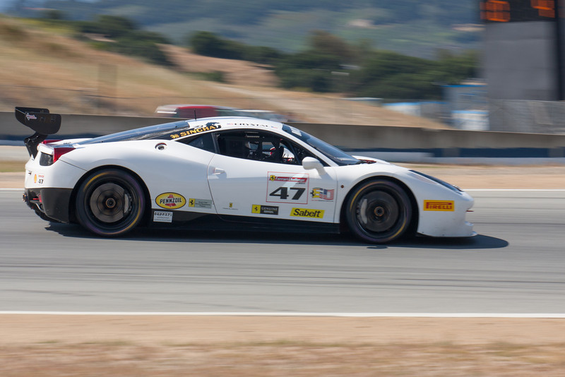 Darren Crystal enters turn 10 in the #47 Ferrari 458 EVO. © 2014 Victor Varela