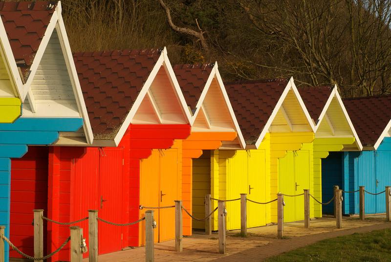Beach huts, Scarborough.