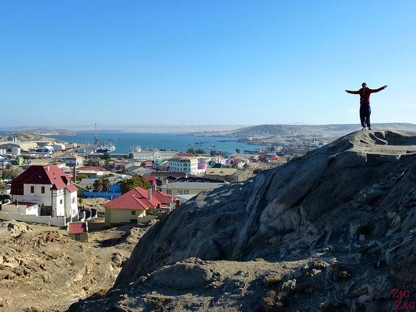 View of Luderitz near the church
