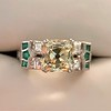 2.10ct Art Deco Peruzzi Cut Diamond Ring, GIA W-X SI2 0