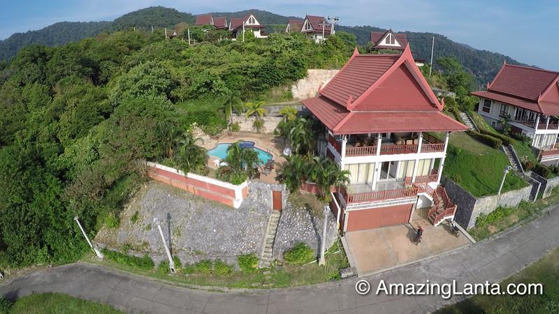 Oriental Pool Villa Aerial View