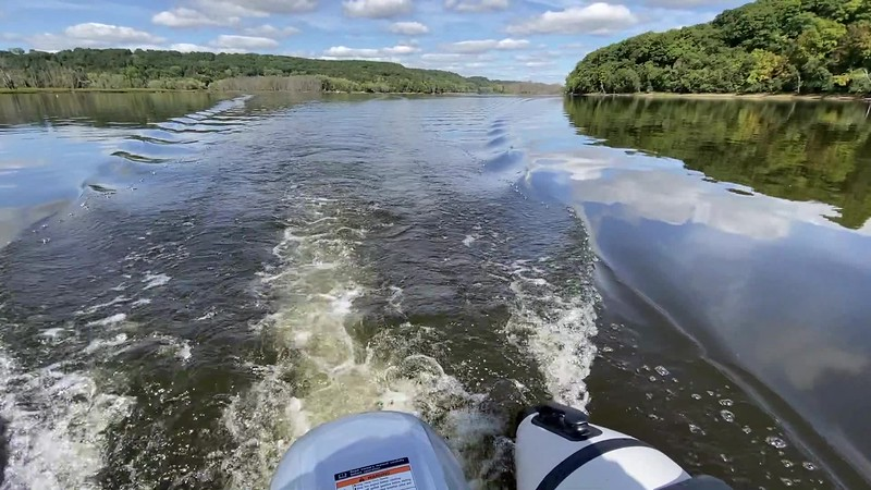 Boating on the Saint Croix river video clip