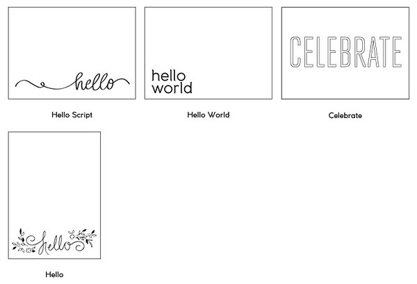 Foil Design Collection 6 - Great for combination baby announcement/holiday card