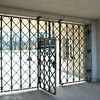 Inside the gate of Buchenwald, looking back toward the outside.  Gate was next to torture chamber.  Incoming inmates could hear screams of victims as inmates lined up for roll call.