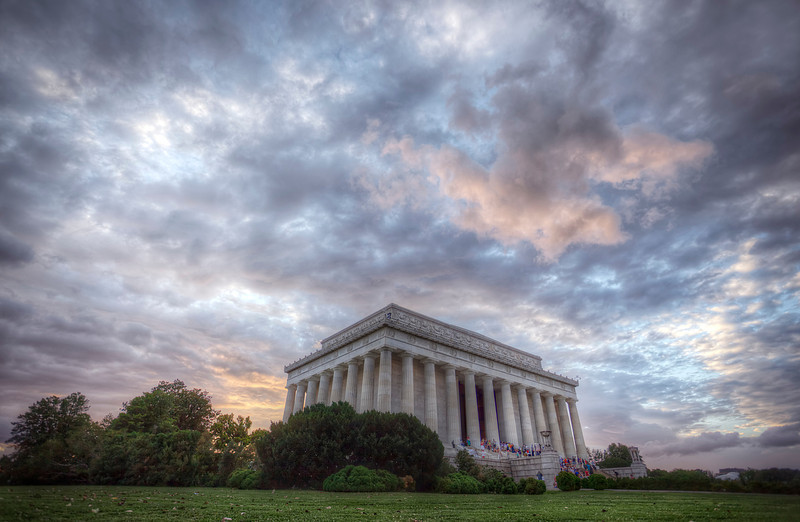 Sunset at the Lincoln Memorial, Washington DC