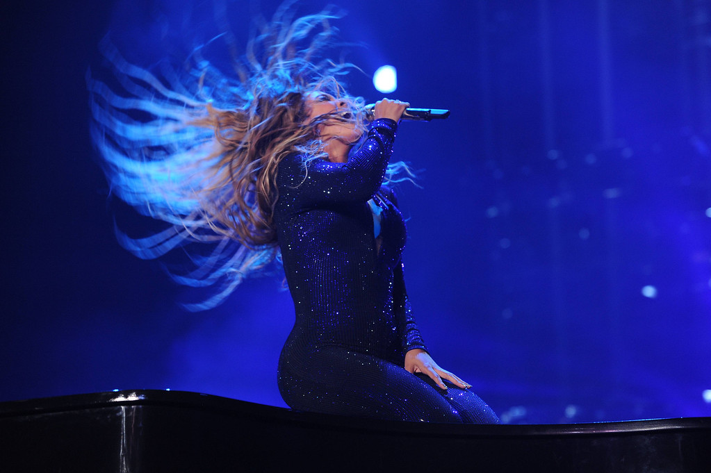 ". On Monday July 8, 2013, Singer Beyonce performs on her ""Mrs. Carter Show World Tour 2013\"" during the Essence Festival at the Superdome in New Orleans.  (Photo by Frank Micelotta/Invision for Parkwood Entertainment/AP Images)"