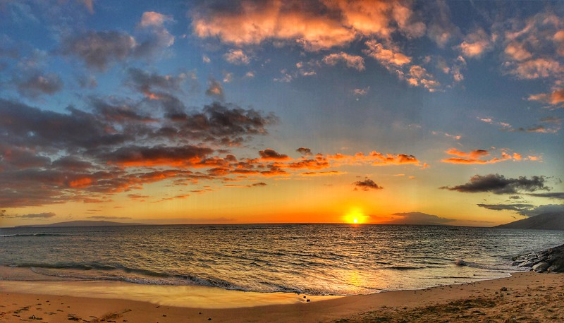Sunset on the Beach in Kihei, Maui
