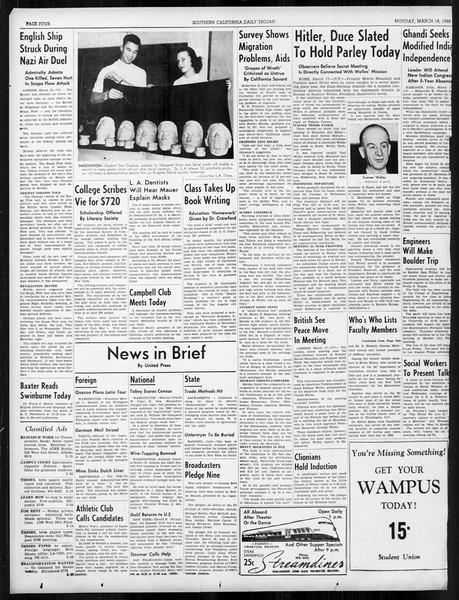 Daily Trojan, Vol. 31, No. 106, March 18, 1940