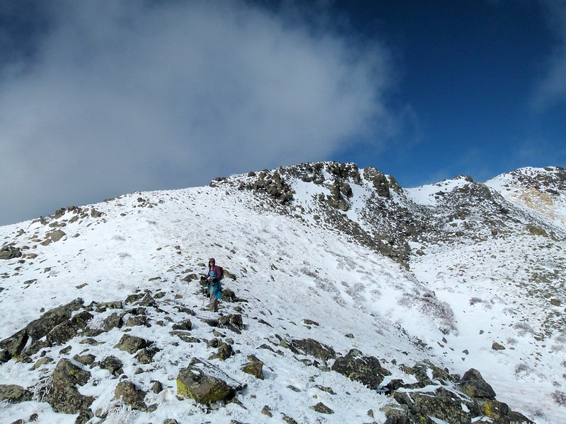 Stef on the South ridge