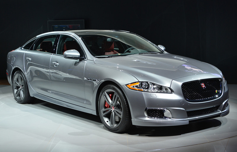 . The Jaguar XJ R is unveiled during the first press preview day at the New York International Automobile Show March 27, 2013 in New York.  STAN HONDA/AFP/Getty Images