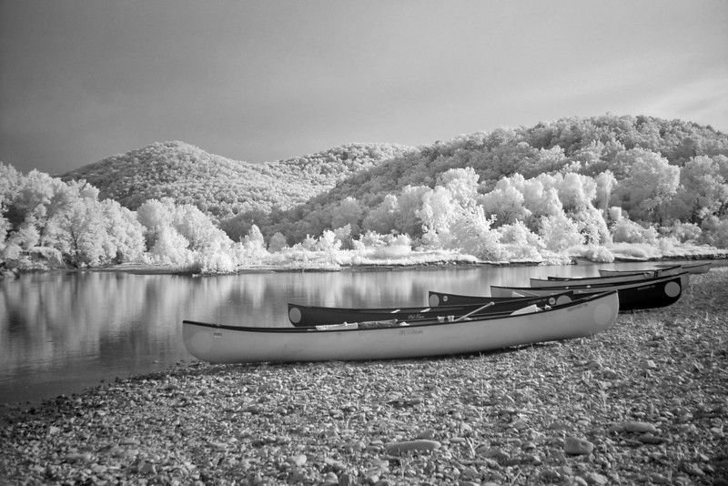 I took a lot of shots of these canoes in IR.