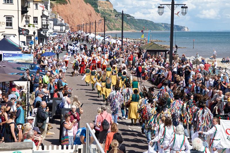 Saturday Procession along the prom