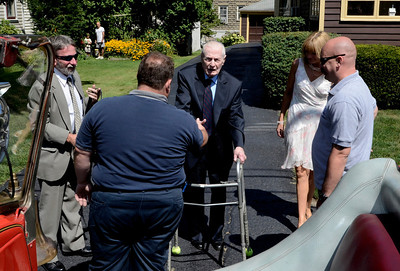 PHOTOS: Frank Kennedy, Troy's oldest living firefighter, celebrates his 100th birthday