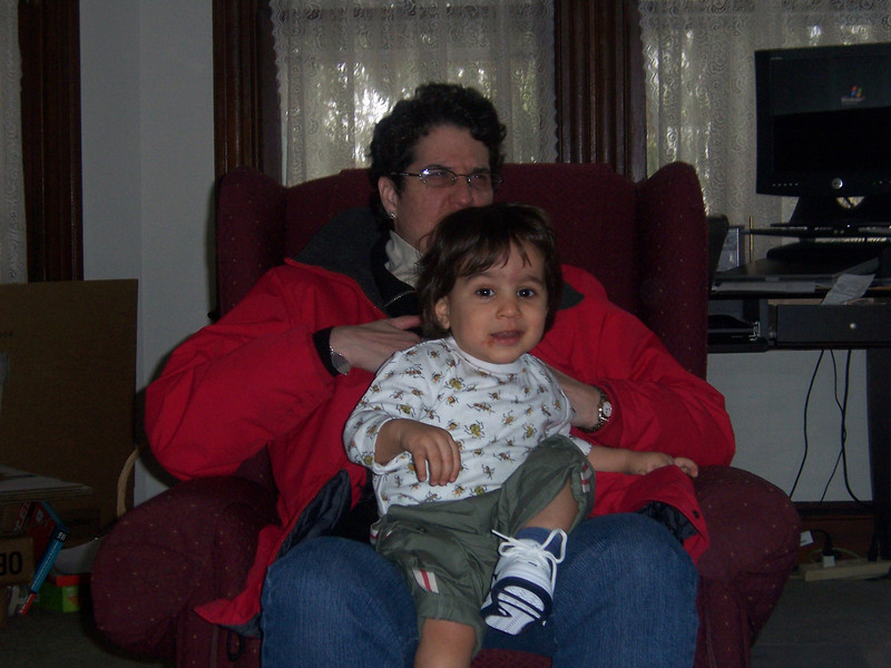 A visit from Sam Baranoff (with proud mommy Rebecca).  (April 2007)