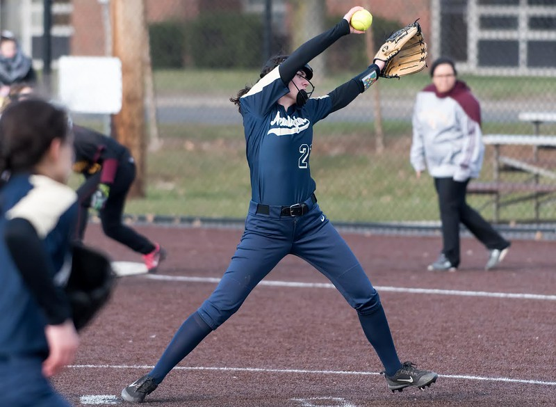 04/05/18  Wesley Bunnell   StaffNew Britain softball defeated Newington on Thursday afternoon at Chesley Park for the schools first win over Newington in 11 games. \ne21\
