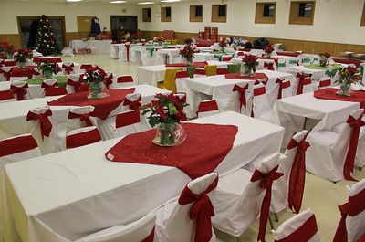 Setup for Community Ethnic Christmas Party, Leibenguth, Community Center, Tamaqua (12-21-2012)