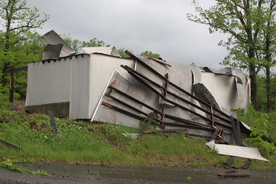 Roof Blown Off of Building, LC&N, Tree Uprooted, East Broad St, Tamaqua (5-23-2011)