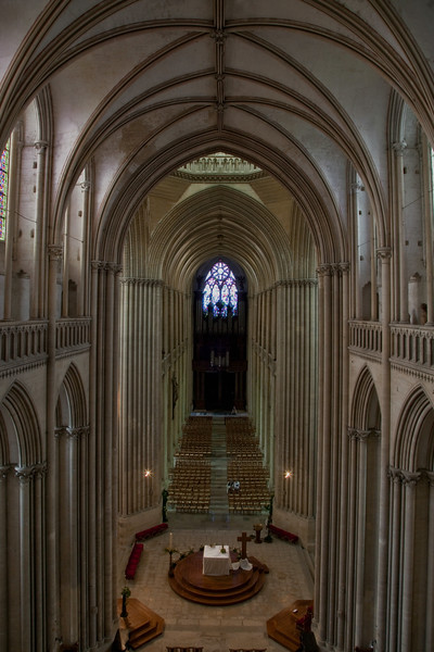 Coutances, Notre-Dame Cathedral Choir and Nave from the Clerestory