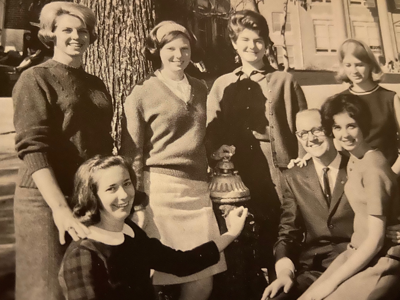 Anne Tuck Spillers as a freshman class officer, pictured lower left, at Georgia College in 1967.