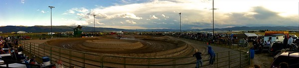 The panoramic of tonight's track.