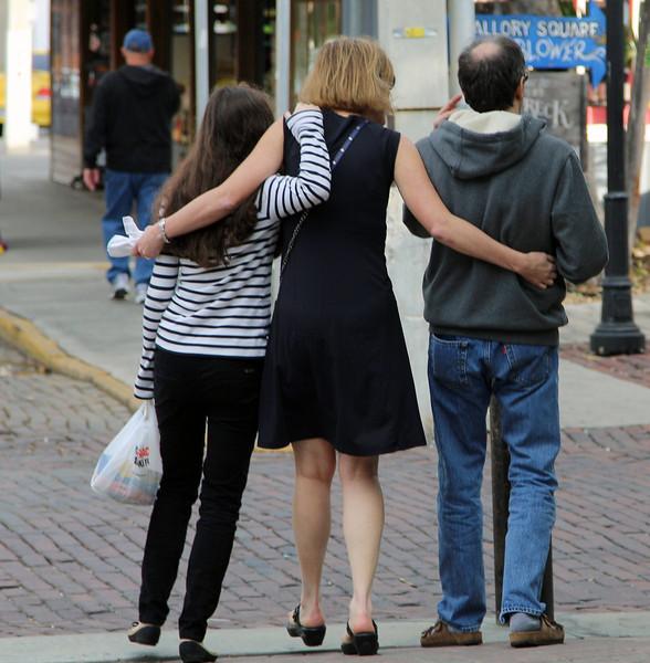 Hannah, Theresa, John on Duvall Street