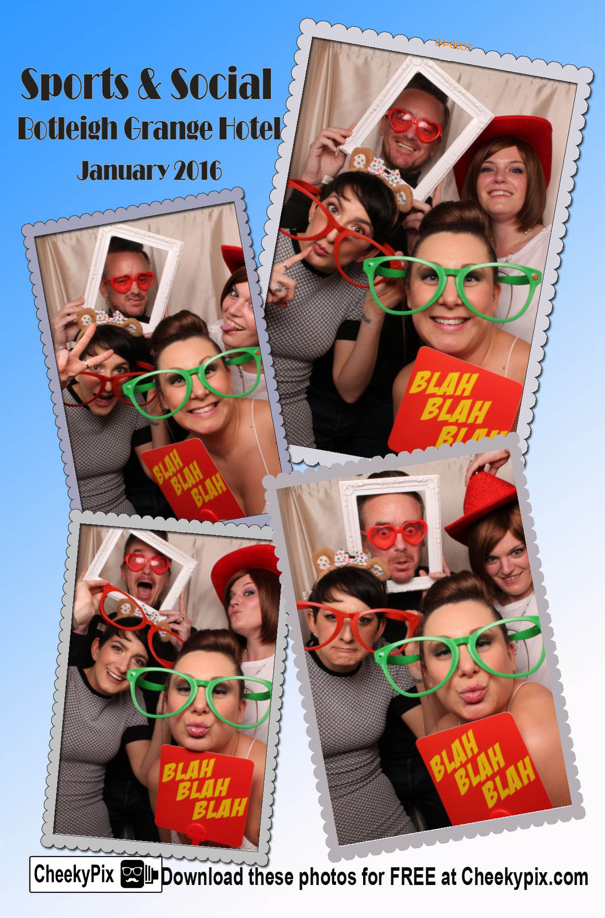 Sport & Social Party photobooth hire