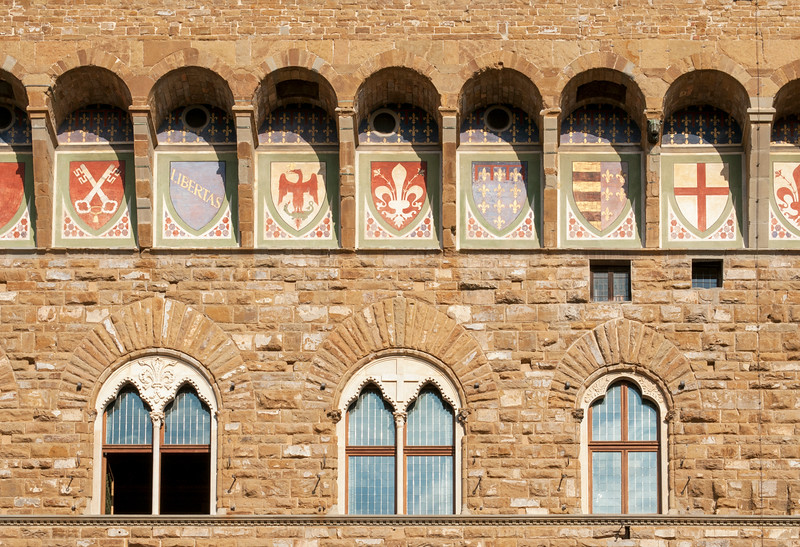 Close-up of Palazzo Vecchio, Florence, Italy