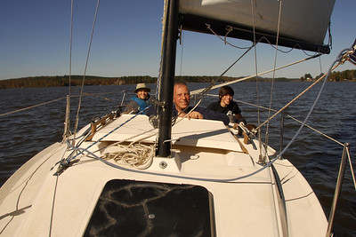 Sailing with Jerry at Lay Lake - Nov 1, 2009