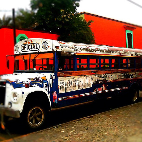 School bus as work of art? #oaxaca #mexico