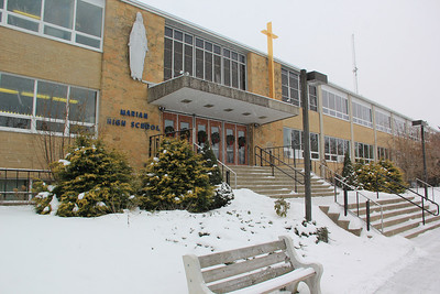Winter View of Marian Catholic High School, Hometown (1-27-2014)
