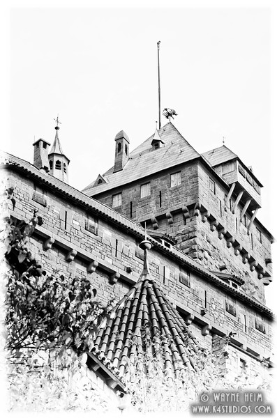 Castle in Black and White       Black and White Photography by Wayne Heim