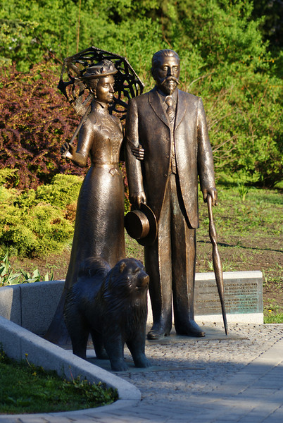 Statues in canal park.