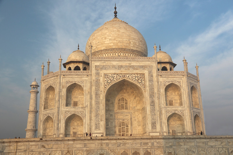 Persian calligraphy adorns the Taj Mahal