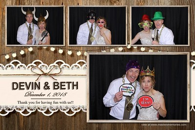 Devin and Beth Wedding - December 1, 2018