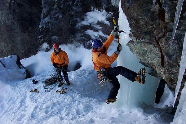 winter - ice climbing gallery