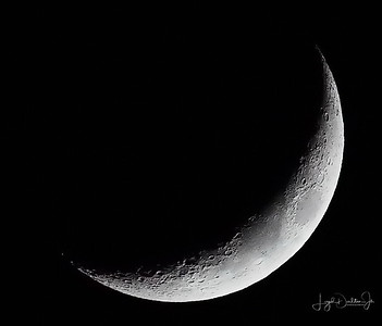 Backyard Waxing Crescent Moon