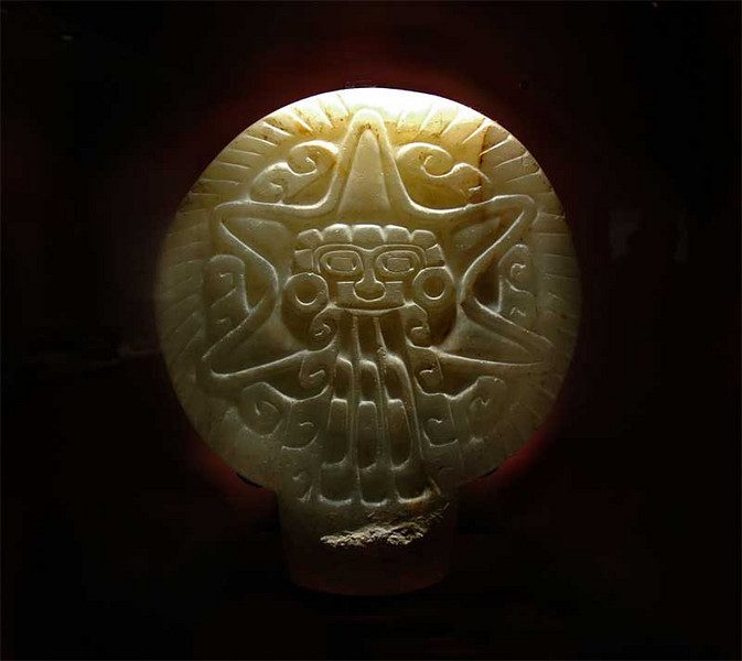 Carved stone representation of the planet Venus,  From Teoteohuacan north of Mexico City.  The city was already abandoned when the Aztecs came to power.