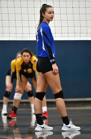 11/16/2019 Mike Orazzi | StaffrBristol Easterns Sage Scarritt (24) during the 2019 State Girls Volleyball Tournament Class L Quarterfinals at BEHS in Bristol Saturday. r