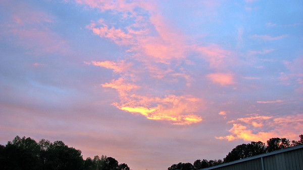 March 23:  Great colors in the sky .  .  .