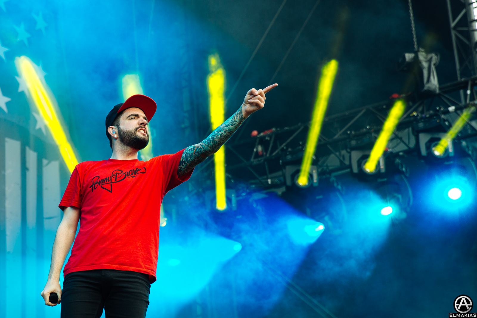Jeremy McKinnon of A Day To Remember at Graspop Metal Meeting in Dessel, Belgium