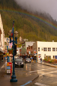 Downtown Juneau with Rainbow - Vertical May 2013, Cynthia Meyer, Juneau, Alaska