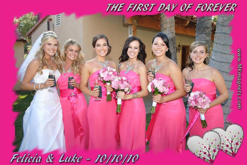 wedding magnet frame- romantic hot pink.jpg