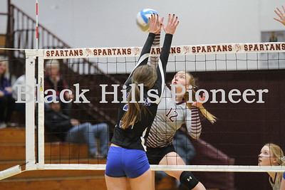 11-1-18 RC Stevens volleyball @ Spearfish
