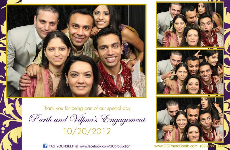 Vilpna Parth Engagement Photo Booth