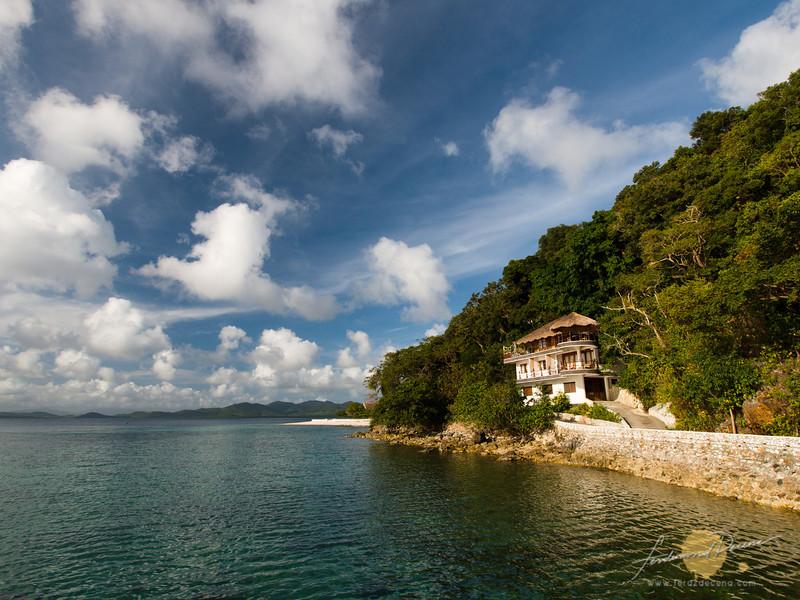 The guesthouse at Noa Noa Island