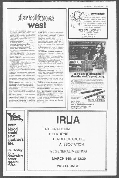 Daily Trojan, Vol. 76, No. 22, March 13, 1979